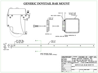 Burris Machine Company Products - Dovetail Bar